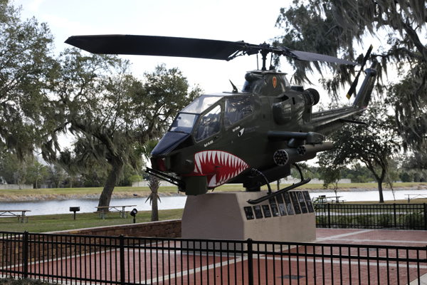 AH-1 Vietnam Veterans Memorial Park in Tampa FL — photo by Joseph May
