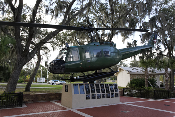 UH-1 Vietnam Veterans Memorial Park in Tampa FL — photo by Joseph May