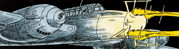 Bombing Nazi Germany — art by Wayne Vansant courtesy of Zenith Press