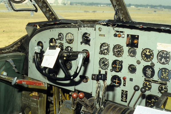 C-82 Packet pilot station — USAF photo