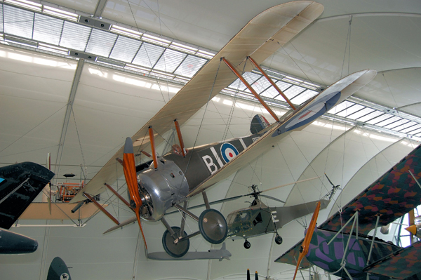 Sopwith Camel at the RAF Museum London — used with permission of Ross Sharp (an copyright holder)