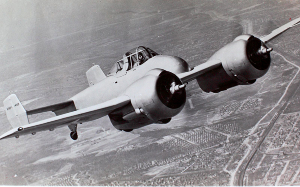 Grumman XF5F Sky Rocket — from the San Diego Air & Space Museum photo archive