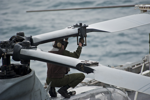 Servicing the AH-1Z Viper aboard the USS Makin Island (LHD 8)— U.S. Navy photo by Mass Comm Spec 2nd Class Alan Gragg