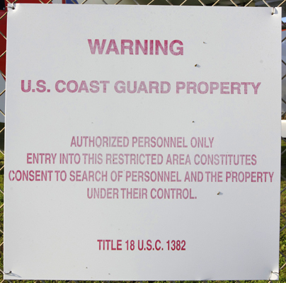USCG Warning — photo by Joseph May
