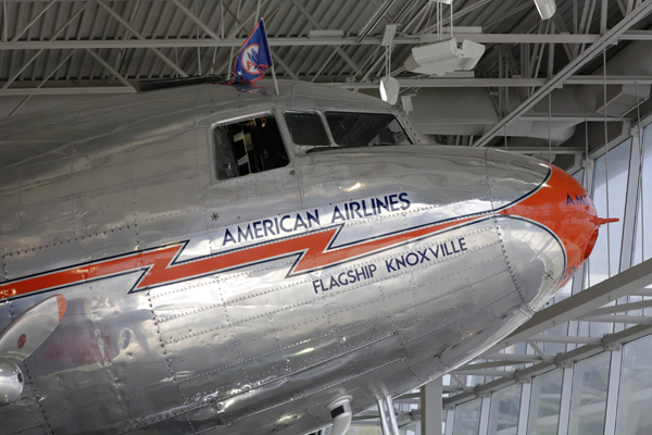 "Douglas DC-3 ""Flagship Knoxville"" cockpit exterior — photo by Joseph May"