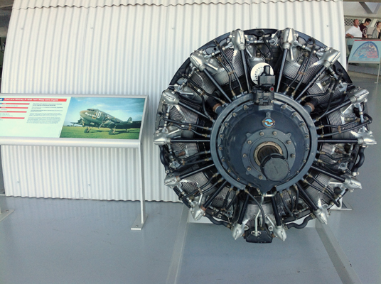 IWP at DUxfors P&W engine to the Douglas Dakota / C-47 Skytrain photo by Micjael Dowman 2013