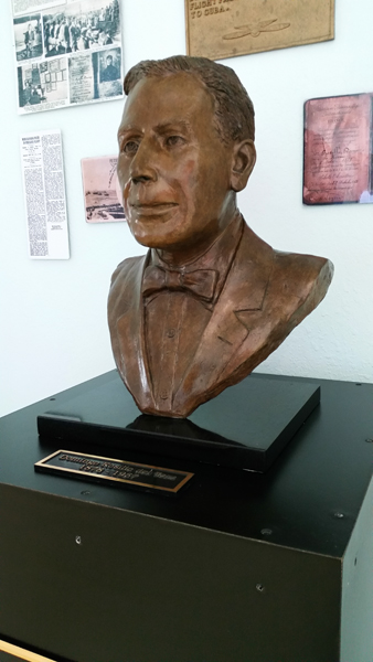 Bust of Domingo Rosillo in the Key West International Airport — photo by Joseph May