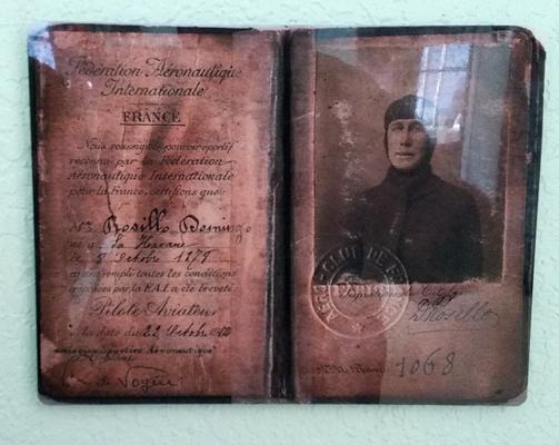 Domingo Rosillo's flight license — photo by Joseph May