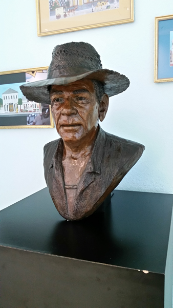 Key West Airport bust of Mario Sanchez by Jam??? — photo by Joseph May