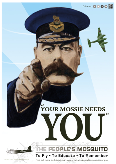 Your Mossie Needs YOU!—courtesy and copyright The People's Mosquito